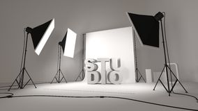 Photo studio setup illustration Royalty Free Stock Photos