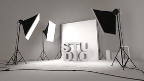 Photo studio setup illustration Royalty Free Stock Photos