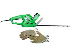 Hedge trimmers isolated on white background stock photography