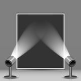 Photo studio and spotlights Stock Photo