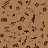 Photo studio tools seamless pattern Royalty Free Stock Photography