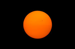 Photo of the sun on black background  Royalty Free Stock Images