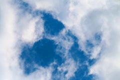 Photo of fluffy clouds Stock Image