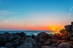 Photo of sunrise at sea Royalty Free Stock Images