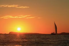 Sunset. Photo of a sunset on Ibiza Royalty Free Stock Photo