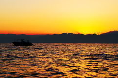 Sunset on the sea Stock Photo