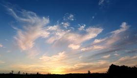 Photo sunset sky Royalty Free Stock Photography