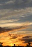 Photo sunset sky Stock Images