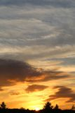 Photo sunset sky Stock Photography
