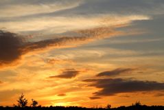 Photo sunset sky Royalty Free Stock Photo