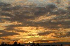 Photo sunset sky Stock Image