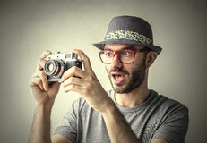 Photo surprise Stock Photography