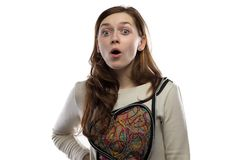Photo of surprised young woman Royalty Free Stock Images