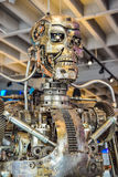Photo of the T-800 Endoskeleton from the Terminator 3D. Los Angeles, California, USA . January 16, 2016: Photo of the T-800 Endoskeleton from the Terminator 3D Royalty Free Stock Image