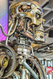 Photo of the T-800 Endoskeleton from the Terminator 3D. Los Angeles, California, USA . January 16, 2016: Photo of the T-800 Endoskeleton from the Terminator 3D Stock Image
