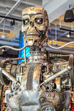 Photo of the T-800 Endoskeleton from the Terminator 3D. Los Angeles, California, USA . January 16, 2016: Photo of the T-800 Endoskeleton from the Terminator 3D Stock Images
