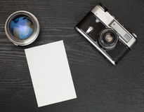 Photo on the table Stock Photography