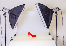 Photo table for product photography royalty free stock image