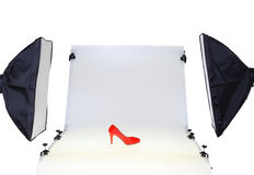 Photo table for product photography stock photo