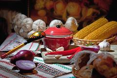 Traditional Ukrainian snack Stock Image