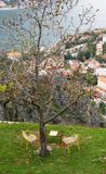 A table for two in Kotor stock image
