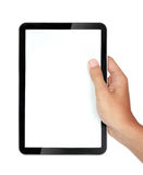 Photo of a tablet held by a hands Stock Images