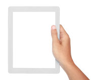 Photo of a tablet held by two hands Royalty Free Stock Images