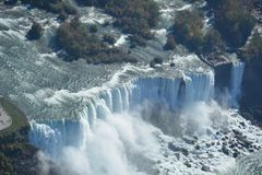 Aerial shot  Niagara Falls United States. A photo taken from the air of the American Niagara Falls Stock Photography