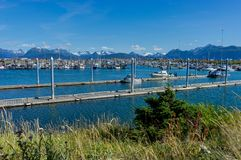 Harbour Homer spit, Kenai Peninsula Alaska United States of Amer royalty free stock images