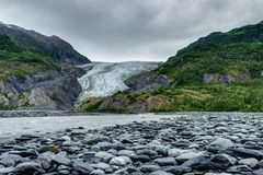Exit Glacier in Seward in Alaska United States of America. Photo taken in Alaska, United States of America. Seward Exit Glacier stock photography