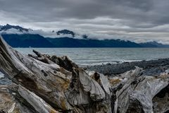 View towards Seward in Alaska United States of America. Photo taken in Alaska, United States of America stock photography