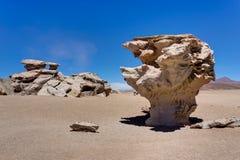 Arbol de piedra Altiplano Bolivia. Photo taken in August 2017 in Altiplano Bolivia, South America: arbol de piedra Altiplano Bolivia Royalty Free Stock Image