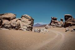 Arbol de piedra Altiplano Bolivia. Photo taken in August 2017 in Altiplano Bolivia, South America: arbol de piedra Altiplano Bolivia Royalty Free Stock Images