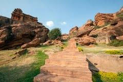 Upper shivalaya temple at badami karnataka india