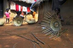Bamboo basket maker at rural bengal