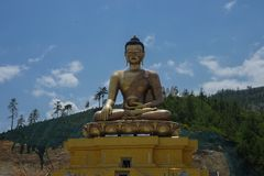 Buddhism Figure Tmeple Religion Bhutan royalty free stock image