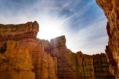 Rock formations Bryce Canyon in Utah United States of America. Photo taken at Bryce Canyon in Utah United States of America Stock Image