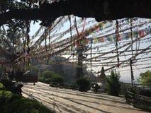 Exploring temples in Kathmandu, Nepal royalty free stock image