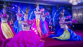 Dance performance in chengdu,china royalty free stock image