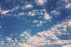 Full Frame Shot of Dramatic Clouds. Photo taken of cumulous clouds, the morning after a rain storm Royalty Free Stock Photo