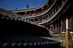 Ancient Chinese dwellings Stock Photo
