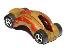 A futuristic brown toy car Royalty Free Stock Image