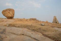 Natural landscape and virupaksha temple at hampi karnataka india