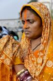 portrait of a devotee capture during chaath puja at kolkata