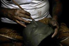 Clay idol maker at kumartuli kolkata