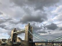 The London Bridge and the bird stock photos