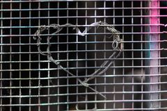 Wire love heart Royalty Free Stock Photos