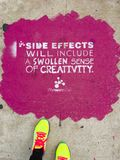 Side effects might be pinkish Royalty Free Stock Photography