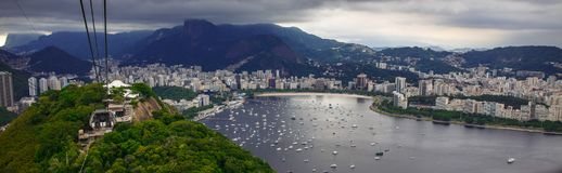 Rio de Janeiro, best top view Brazil today. Sugarloaf. royalty free stock photos
