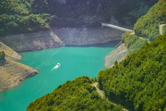 Lake Piva, Savnik Montenegro stock images